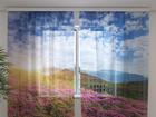 Šifoon-fotokardin Flowers 3, 240x220 cm ED-100002