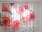 Šifoon-fotokardin Music of roses 240x220 cm ED-100020