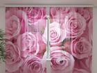 Šifoon-fotokardin roses 240x220 cm ED-100032