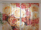 Šifoon-fotokardin Candy roses 240x220 cm ED-100048