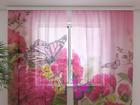 Šifoon-fotokardin Beautiful peonies 240x220 cm ED-100132