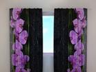 Poolpimendav kardin Orchids on black 240x220 cm ED-100481