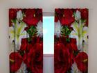 Poolpimendav kardin Roses and lilies 240x220 cm ED-100509