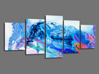 Viieosaline seinapilt Abstrakt 200x100 cm ED-101088