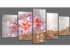 Viieosaline seinapilt Lily 200x100 cm ED-101091
