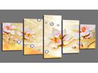 Viieosaline seinapilt Flowers 200x100 cm ED-101092