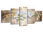 Viieosaline seinapilt Orchid 200x100 cm ED-101093