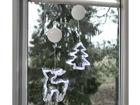 Jõulukaunistus aknale hirv+kuusk AA-101098