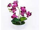 Kunstlill Lilla orhidee h30 cm EV-106493