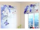 Poolläbipaistev roomakardin Blue Irises 60x60 cm ED-108531