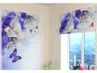 Pimendav roomakardin Blue Irises 120x140 cm ED-108536