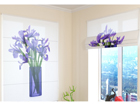 Poolläbipaistev roomakardin Bouquet of irises 60x60 cm ED-108545