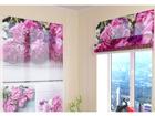 Poolläbipaistev roomakardin Collage of peonies 120x140 cm ED-108595