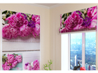 Pimendav roomakardin Collage of peonies 100x120 cm ED-108597