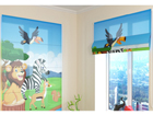 Poolläbipaistev roomakardin Cute African animals 1 100x120 cm ED-108606