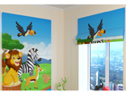 Pimendav roomakardin Cute African animals 1 60x60 cm ED-108608