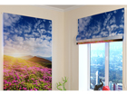 Pimendav roomakardin Flowers and mountains 2 100x120 cm ED-108686