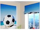 Pimendav roomakardin Football ball on the beach 100x120 cm ED-108694