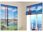 Poolläbipaistev roomakardin Golden gate bridge 60x60 cm ED-108802