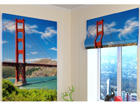 Pimendav roomakardin Golden gate bridge 60x60 cm ED-108805