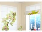Poolläbipaistev roomakardin Light Green Orchid 60x60 cm ED-108910