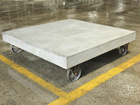 Ratastel diivanilaud Cement 80x80 cm AY-108958