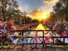 Fliis-fototapeet Amsterdam Channels 360x270 cm ED-109407