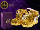 Kullatud ja kristallidega kuju Kingad MO-109848