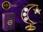 Dekoratiivsete kristallidega kuju Kuu ja täht MO-109870