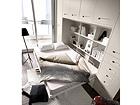 Kapp-voodi 135x190 cm, ülemiste kappidega EX-111747