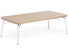 Diivanilaud Ashburn Coffee Table Oak-white 125x65 cm WO-112878