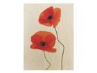 Seinapilt puidul Charming Poppies 75x120 cm ED-113101