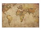 Seinapilt puidul, World Map, 50 x75 cm