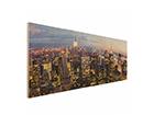 Seinapilt puidul New York Skyline ED-113184
