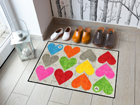 Vaip Colourful Hearts 50x75 cm A5-113339
