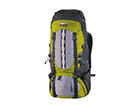 Seljakott High Peak Sherpa 55+10 L tumehall/hall/roheline HU-114419