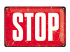 Retro metallposter Stop 30x20 cm SG-114854