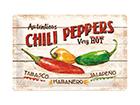 Retro metallposter Chili Peppers 20x30 cm SG-114865