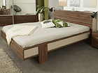 Pesukastiga voodi Brera walnut 140x200 cm MA-115452
