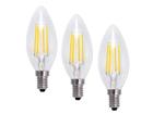 Filament LED pirn-küünal 4W, 3 tk EW-115893