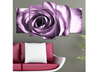 Viieosaline seinapilt Rose Motif 100x60 cm ED-116585