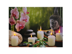 LED pilt Buddha with Candles & Orchids
