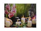LED pilt Buddha with Candles & Orchids 50x70 cm ED-117172