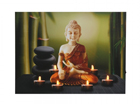 LED pilt Buddha & Tealights 30x40 cm ED-117192