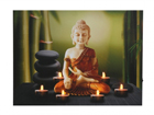 LED pilt Buddha & Tealights 50x70 cm ED-117193