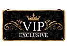 Retro metallposter VIP Exclusive 10x20 cm SG-118291