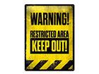 Retro metallposter Restricted Area 30x40 cm SG-118294