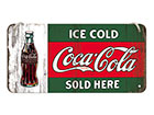 Retro metallposter Coca-Cola Ice Cold Sold Here 10x20 cm
