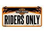 Retro metallposter Harley Davidson Riders Only 10x20 cm SG-118404