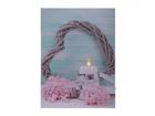 LED pilt Heart & Candle 70x50 cm ED-118506